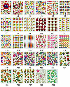 384S-Floral-Flower-Insect-Bug-Reward-Animal-Craft-Card-Scrapbooking-Stickers
