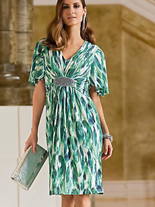 Together @ Kaleidoscope Size 8 Abstract Print DRESS Occasion Wedding Evening