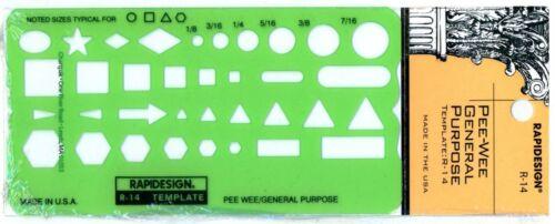 R-14 Berol Rapidesign Template Pee Wee General Purpose