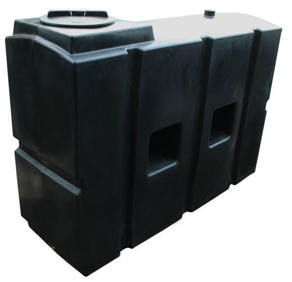 Ecosure 1100 LITRI ACQUA Butt l'acqua piovana raccolta serbatoio nero 1  OUTLET