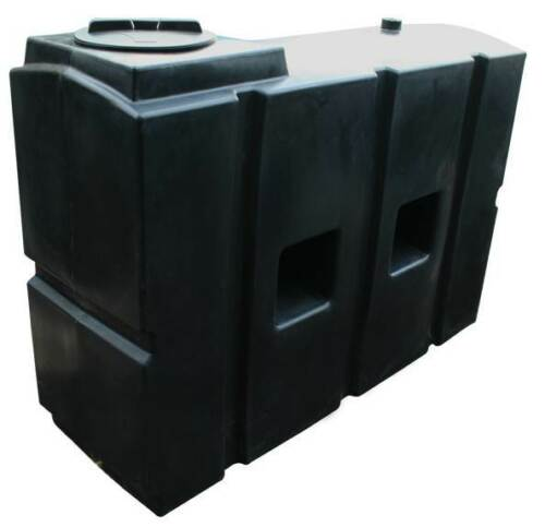 """Ecosure 1100 Litre Water Butt Rain Water Harvesting Tank Black 1/"""" Outlet"""