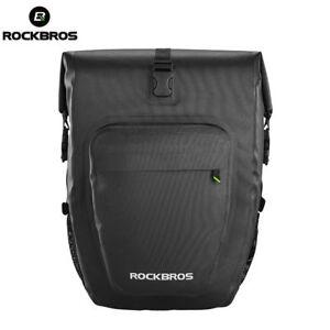 RockBros Waterproof Pannier Bag Bicycle Rear Bag Rack Bag Upgrade Black 27L 1pcs