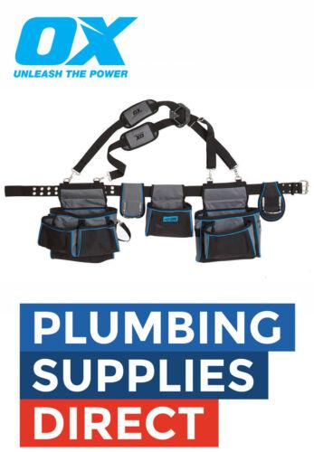 OX Tools Pro Contractors Tool Belt Apron Braces// Pouch OX-P260801