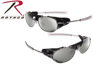 Image is loading Aviator-Sunglasses-With-Wind-Guards-Chrome-Tactical-20380- 8a3e685a2bb