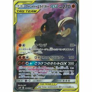 Pokemon-Karte-Japanisch-marshadow-amp-Machamp-GX-101-095-SR-sm10-Full-Art