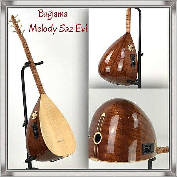 Baglama mit Tonabnehmer EQ   Saz Teli   mizrap   saz teli    ✅  Melody Saz