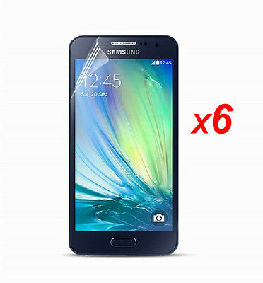 6 x HD Clear LCD Screen Protector Shield Cover Skin Film for Samsung Galaxy A3