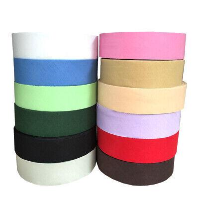 25mm //1 inch PINK Cotton Bias Binding Tape Folded Trimming Edging 25 meter roll