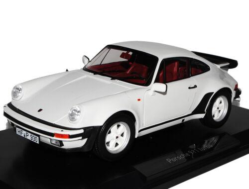 Porsche 911 Turbo 3.3 Weiss Coupe G-Modell 1973-1989 1//18 Norev Modell Auto mi..