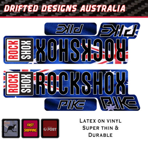 Rockshox Pike Style Aus Flag fork Sticker REPRODUCTION decal Vinyl