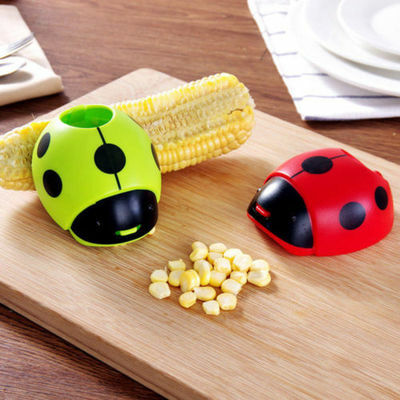 Funny Creative Cartoon Ladybug Corn Stripper Separator Cob Remover Cutter Tool