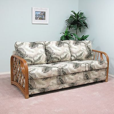 Made In Usa Newton Rattan Sofa Queen Sleeper Bed Custom Choice Of Fabrics
