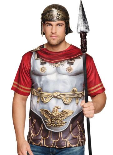Herren Römisch 3D T-Shirt Maskenkostüm Deluxe Umhang Rüstung Eagle Legionär Neu