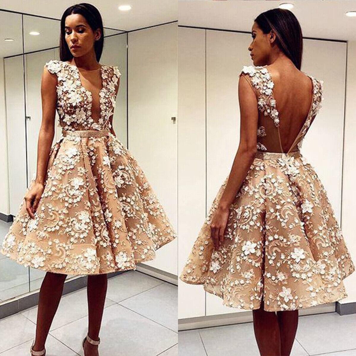 Para Mujeres corto formal vestidos de encaje de  graduación Noche Fiesta cóctel vestidos de dama de honor  compra en línea hoy