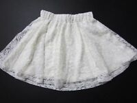 Children's Place Girls Skirt Size 5/6 Small Creamy Off-white Lace Lined