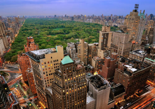 """CENTRAL PARK NEW YORK NEW A4 CANVAS GICLEE ART PRINT POSTER 11.7/"""" x 8.3/"""""""