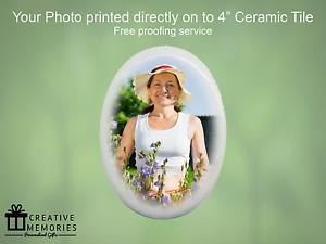 Personalised Ceramic Memorial Photo Oval Tile Grave Memorial - Ceramic memorial photos