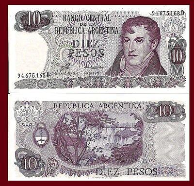 General Belgrano // Iguazu falls Argentina P300 Misiones 10 Pesos UNC 1976