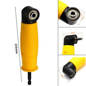 90 Degree Right Angled Drill Chuck Bit Driver Corner Adapter Screwdriver UK
