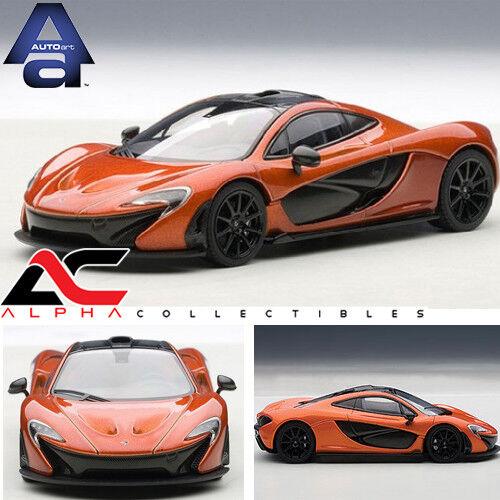 AUTOART 56012 1 43 MCLAREN P1 SUPERCAR METALLIC Orange DIECAST MODEL CAR