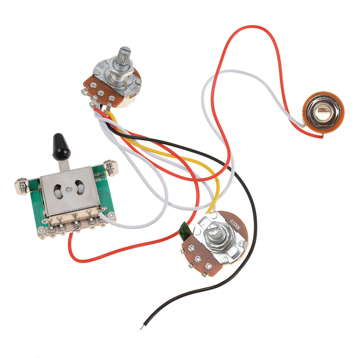 3 pickup guitar wiring harness prewired volume tone 1v1t ... guitar wiring harness volume tone tone