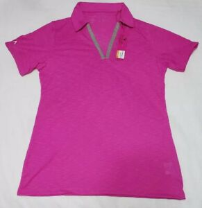 NEW-Antigua-Womens-Jubilee-Desert-Dry-Golf-Polo-Shirt-Pink-Size-M-Medium