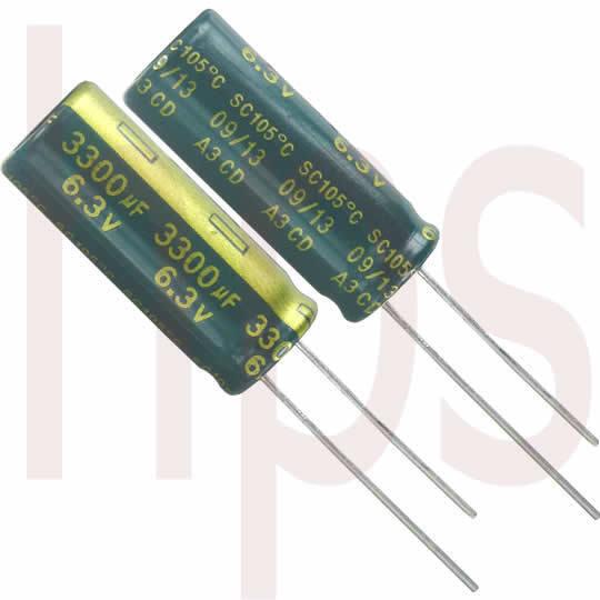 Elko Elektrolytkondensator l.E.S.R. 3300µF 6,3V Code 09-2013 3300mF 3300uF 3300