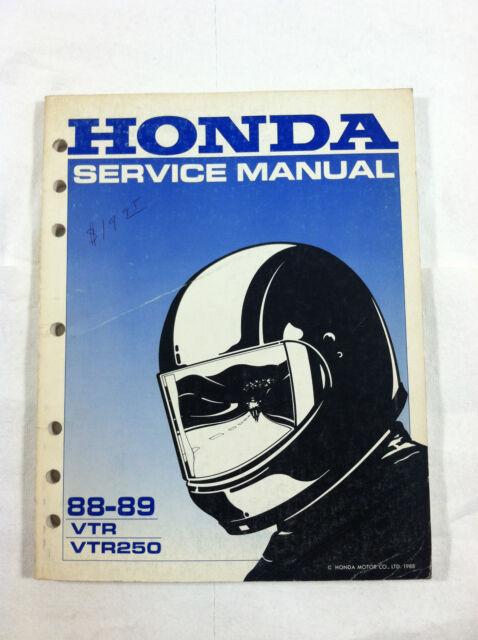 HONDA VTR VTR250 DEALER'S SERVICE MANUAL GUIDE 1988 1989