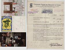 #MACCHINE DA CUCIRE 1905-1940- LOTTO 3 CARTOLINE E CARTA INTESTATA...