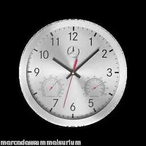 Mercedes benz genuine wall clock quartz aluminium nip ebay for Mercedes benz clock