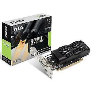 MSI GTX1050Ti4GTLP NVIDIA GeForce GTX 1050Ti 4GB GDDR5 Low Profile Graphics  Card