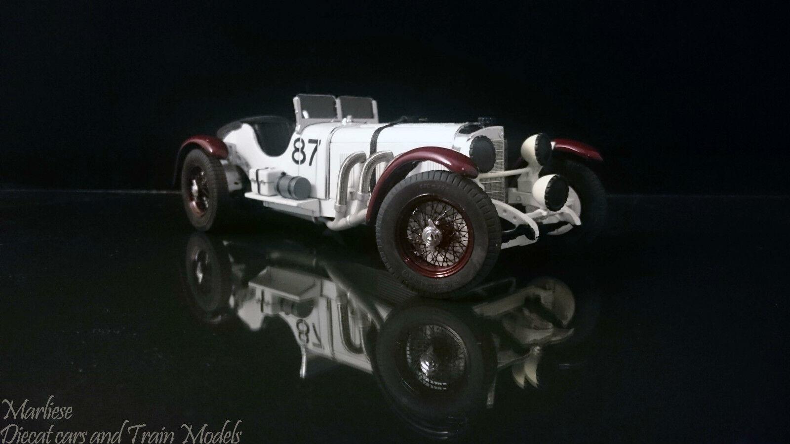Very Rare Paul's Model Art 1 24 1931 Mercedes-Benz SSKL  87 Mille Miglia Winner