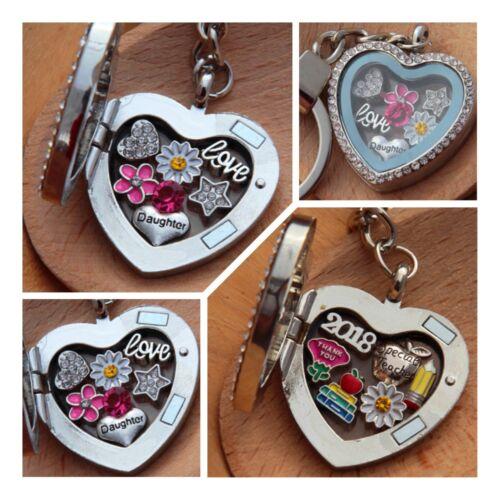 mum nana sister Birthday Xmas gifts Personalised heart locket keyring for