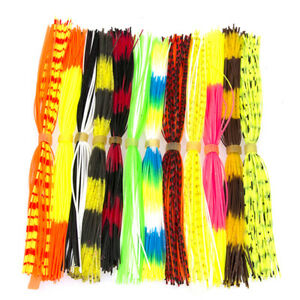 12 Bundles Mixed Color Silicone Skirts for Lures Squid Skirts Fly Tying MateXNDC