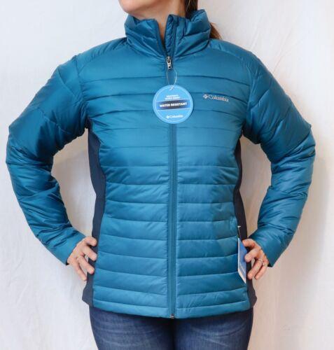 NEW COLUMBIA POWDER PILLOW HYBRID JACKET Women/'s M-L-XL Puffy Choose Blue//Brown