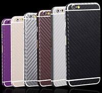 Carbon Full Body Film Fiber Sticker Screen Protector Wrap Skin For iPhone 5 6 6P