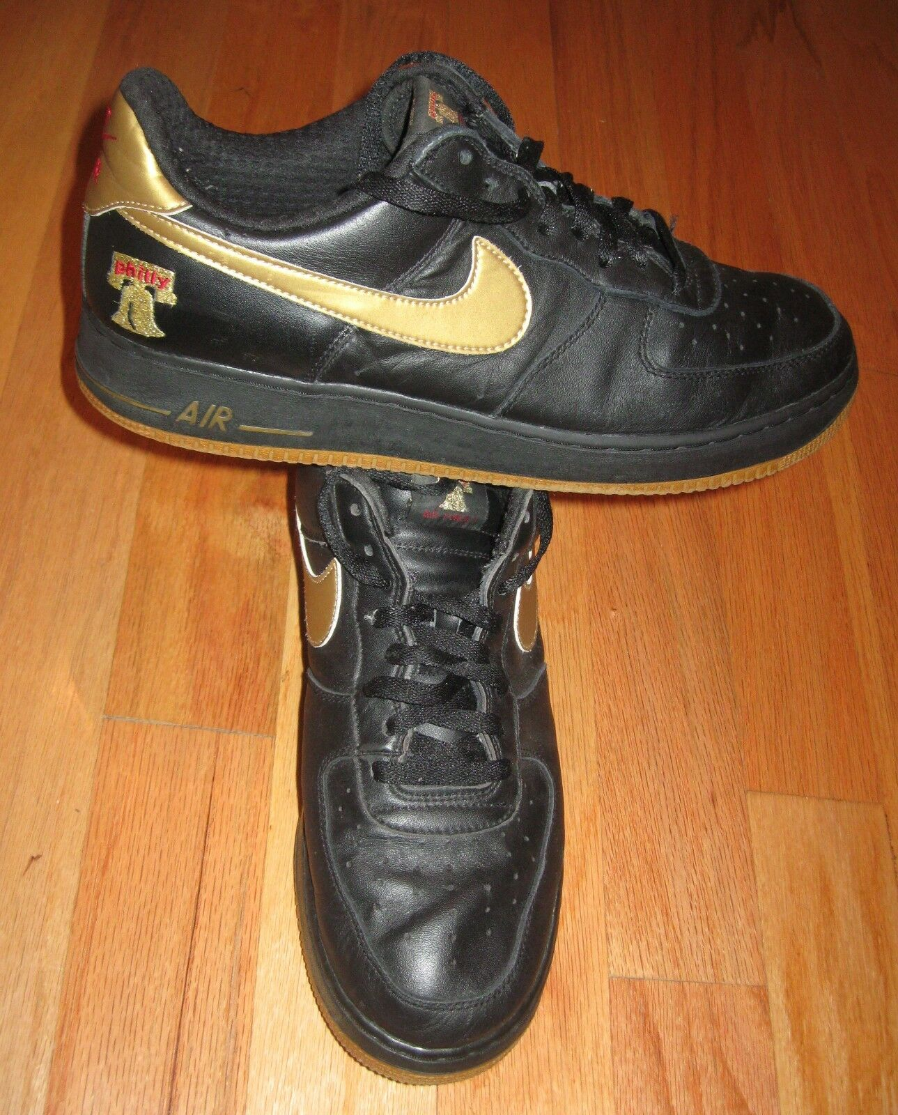 NIKE AIR FORCE 1 PREMIUM PHILLY 309096-071 MENS LEATHER BASKETBALL SHOES SIZE 14