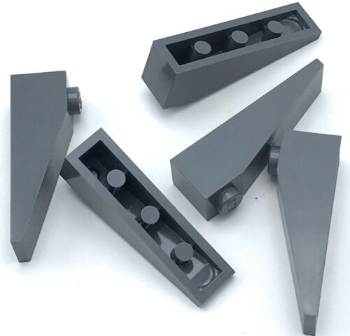 Lego 5 New Dark Bluish Gray Slope 18 4 x 1 Sloped Pieces