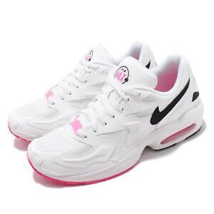 nike air max2 light white black pink men running casual