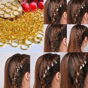 5-10Pc-Punk-Women-Hip-Hop-Braid-Hand-Cross-Shell-Star-Ring-Hair-Clips-Accessory