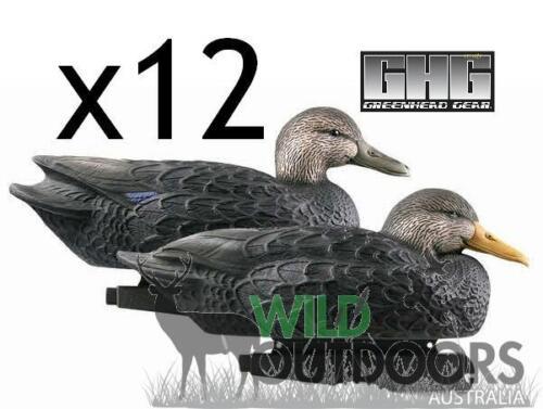 12 Pack GHG OVER-SIZE BLACK DUCK DECOYS
