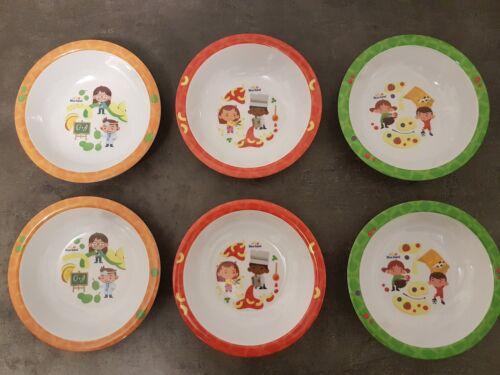 6 x Melamin Schüssel Schale Partyteller Baby Kinder