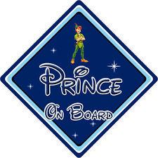 Disney Prince On Board Car Sign – Baby On Board – Peter Pan DB