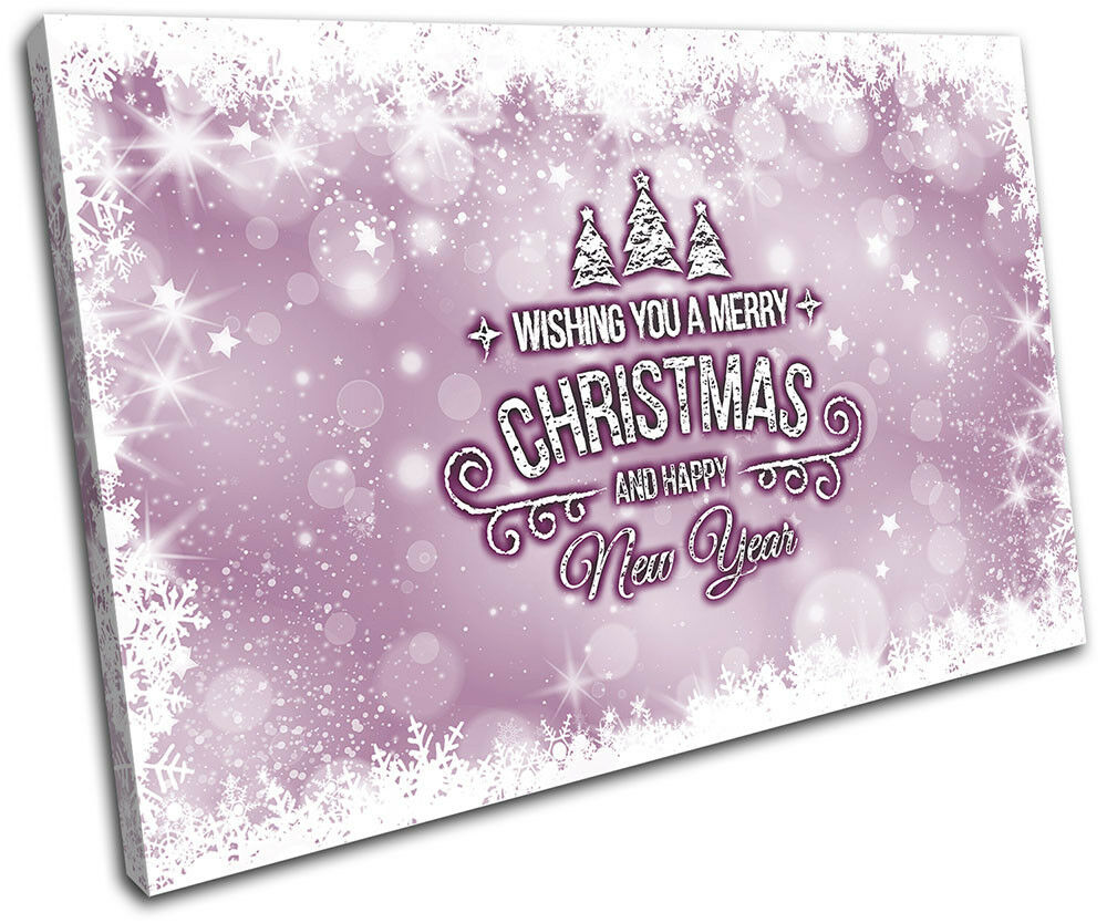 Christmas Decoration Wall Canvas ART Print XMAS Picture Gift Bokeh 03 Violet Chr