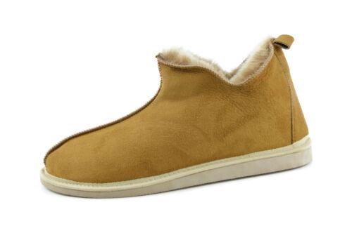 Mocassini Pantofola in pelle Scarpe marrone di pelle agnello pelliccia in in Pantofola xqw1rCqUI