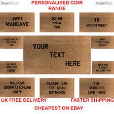 Personalised Coir Doormat 40x70cm Custom Gift Wedding House Presents Floor mat