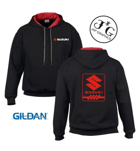 Suzuki square motorbike motorcycle hoodie hooded top jacket all sizes