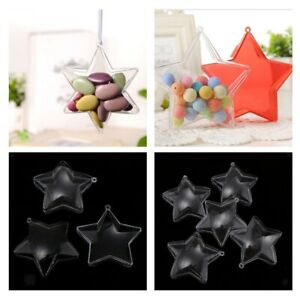 Clear-Plastic-Fillable-Star-Ball-Sphere-Ornament-Hanging-Decorations-DIY-Craft