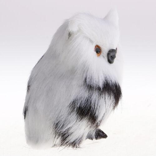2 pcs Mini Plüsch Eule Vogel Figur Dekofigur Gartenfigur Gartendeko