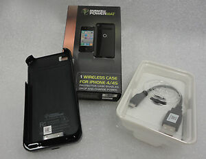 iphone 4s battery case duracell powermat wireless charging black for iphone 4 4s 14418